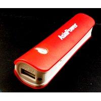 AsiaPower 2600 MAh Power Bank - AP-2600C (Red White)