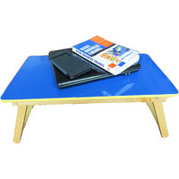 Foldable Small Wooden Blue Colour Laptop Table
