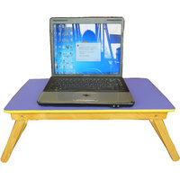 Foldable Small Wooden Purple Colour Laptop Table