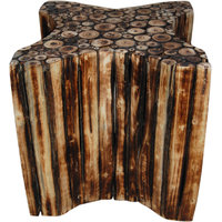 Wooden Star Shape Stool/Chair/Table Made From Natural Wood Blocks