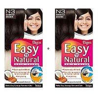 Bigen Easy 'n Natural Hair Color N3 Darkest Brown Pack Of 2