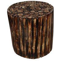 Wooden Round Shape Stool/Chair/Table Made From Natural Wood Blocks