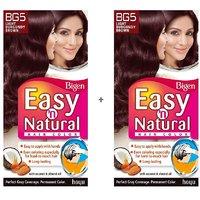 Bigen Easy 'n Natural Hair Color BG5 Light Burgundy Brown Pack Of 2