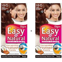 Bigen Easy 'n Natural Hair Color MH5 Light Mahogany Brown Pack Of 2