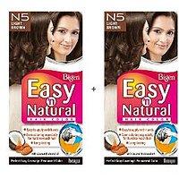 Bigen Easy 'n Natural Hair Color N5 Light Brown Pack Of 2