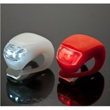 Ultra Bright Waterproof Silicon LED Bike Light Set  2 LED Front +Rear Bicycle /Cycling Safety Warning Light  Multicolor
