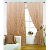 Fabutex Poly Jacquard Weave Fauna Gesign Beige Eyelet Window Curtain