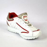 Prisma White & Red Sports Shoes