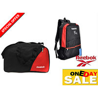 Reebok Combo - College Backpack Bag Signed By Ms Dhoni And Reebok Duffle Bag