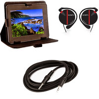 7 Inch Flip Cover For HCL Me V1 With Headphone With Mic&Aux Cable
