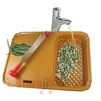 Chopping Board With Two-way Chopping Blade For Chopping And Slicing