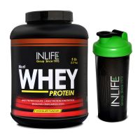 INLIFE Whey Protein Powder 5 Lbs (Chocolate Flavor) With Free Shaker