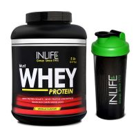 INLIFE Whey Protein Powder 5 Lbs (Vanilla Flavor) With Free Shaker