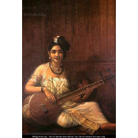 Malabar Lady Holding The Veena- Raja Ravi Varma