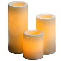 Expressme2u 4''6''8'' X 4'' Dia - Marble Look - Flameless Summer Melon Decor Led