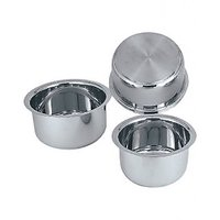 Combo Of Induction Base Stainless Steel Sandwich Bottom Tope With Lemon-squeezer