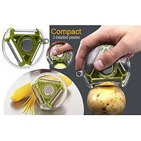 3D  Bladed 3 In 1 Design Rotary Vegetable Fruit Peeler Heavy Quality