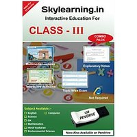 Skylearning.in CBSE Class 3 Combo Pack (English, Maths, Science, EVS, Hindi Vyakaran, Computer, G.K) (Pendrive)