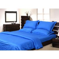 Mark Home Blue Coloured Two Fitted Sheet And Two Pillow Covers