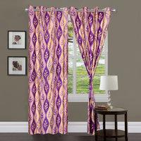Handloomhub Printed Door Curtain (set Of 2) Design-1 - 5963466