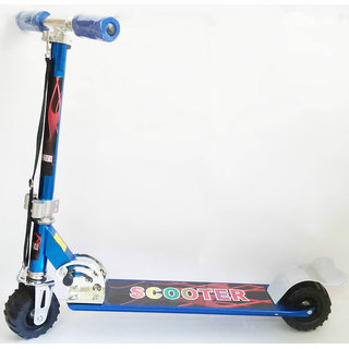 Big Size 2 Wheel Wide Tyres Height Adjustable Kids Folding Scooter (Blue)