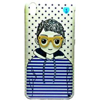 COCORONI The Boy & Girl Designer Hard Back Shell Cover Case For HTC 816 (Boy)