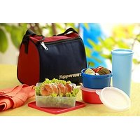 Tupperware Best Lunch Box (Incl. Bag Worth Rs. 150) - (Set Of 5 Pcs)