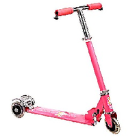 Foldable Kids Mini Scooter With Brakes And Bell (pink )