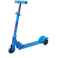 Foldable Kids Mini Scooter With Brakes And Bell (Blue)