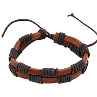Young & Forever  Brown Leather Unisex Bracelet For Women