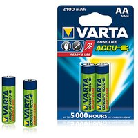 Varta Longlife Accue 2 AA Size Ni-MH 2100 MAh Rechargeable Batteries