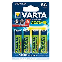 Varta Longlife Accue 4 AA Size Ni-MH 2100 MAh Rechargeable Batteries