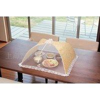 "(Pack Of 2)Decorative Umbrella Cloth & Mesh Net Food Cover. Tent Size- 12""x 12"""