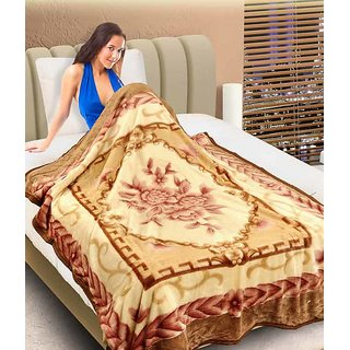VEEVEL MULTICOLOUR KOREAN DOUBLE MINK BLANKET (ASSORTED)