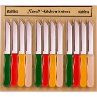 12 PIECES FIXWELL STAINLESS STEEL KNIFE SET