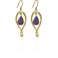 Irene 18K Gold Plated Earring With Amethyst Gemstone For Women