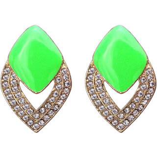 Fashion Green Earrings - 748