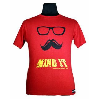Moksa Mens Red Round Neck Tshirt