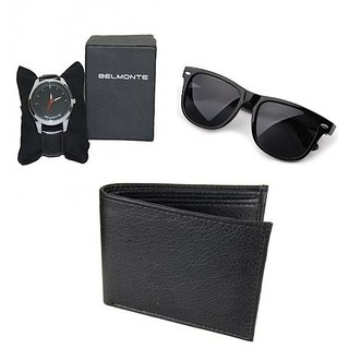 Combo Of Belmonte Watch And Wayfarer & Leather Wallet(FREE SHIPPING)