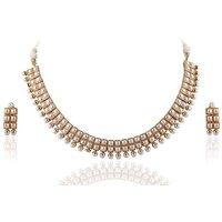 Firstloot Astounding Polki Necklace Set In White Colour - Pos385