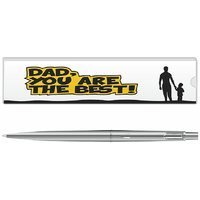 Parker Classic Stainless Steel Ct Ball Pen With Dad Quote-1