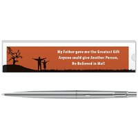 Parker Classic Stainless Steel Ct Ball Pen With Dad Quote-5