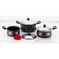 Mahavir 6Pc Induction Base Non Stick Cook & Serve Set