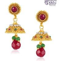 Sukkhi Fancy Gold Plated Australian Diamond Earrings