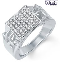 Sukkhi Appealing Rhodium Plated Cubic Zirconia Ring For Men