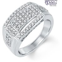 Sukkhi Attractive Rhodium Plated Cubic Zirconia Ring For Men