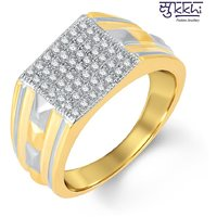 Sukkhi Exotic Gold And Rhodium Plated Cubic Zirconia Ring For Men