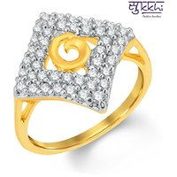 Sukkhi Fabulous Gold And Rhodium Plated Cubic Zirconia Ring