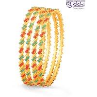 Sukkhi Marvellous Gold Plated Set Of 4 Coral Bangle