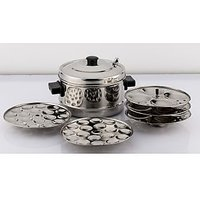 Mahavir 12Pc Induction Base Idly Cooker With 36Mini Idly Plate Free